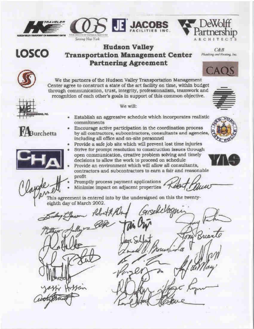 Hudson valley traveler tmc construction partnering agreement platinumwayz